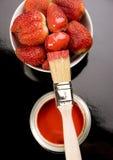 strawberies χρωμάτων Στοκ Φωτογραφίες
