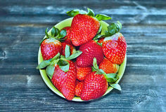 Strawberiies in a bowl. Beautiful red and fresh strawberiies in a bowl Royalty Free Stock Photos