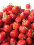 Strawberr sain sur le fond blanc Photos libres de droits