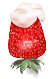Strawberrie com creme Foto de Stock Royalty Free