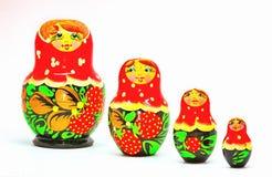 Strawberrie Matryoshka Royalty-vrije Stock Fotografie