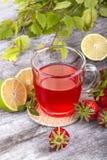Strawberrie tea Stock Photos