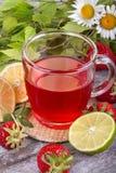 Strawberrie tea Stock Photography