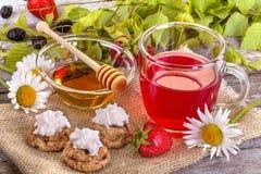 Strawberrie tea Royalty Free Stock Photos