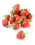 Strawberries. Group of strawberries. Isolated over white Royalty Free Stock Images