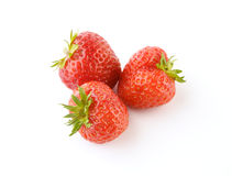 Strawberries. On the white background Stock Photo