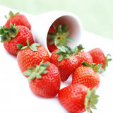 Strawberries. A tumble of strawberries Royalty Free Stock Photo