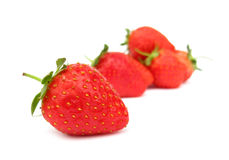 Strawberries. Are refreshing and healthy fruits Royalty Free Stock Photography