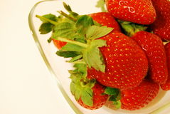 Strawberries. In a bowl on a white background Stock Image