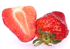 Strawberries. Sweet strawberries on a wet background Stock Images