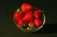 Strawberries. Black background Royalty Free Stock Photos