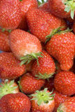 Strawberries. Sweet strawberries on a wet background Royalty Free Stock Photography