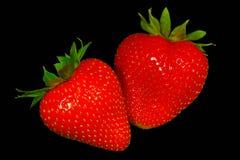 Strawberries. Isolated on black background Stock Image