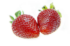 Strawberries. Isolated fruits - Strawberries on white background Royalty Free Stock Image