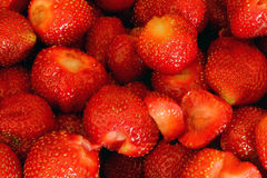 Strawberries. Closeup of multiple ripe, red strawberries Royalty Free Stock Image