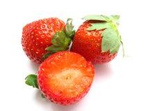Strawberries. Farm fresh strawberries isolated on white Royalty Free Stock Image