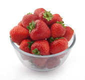 Strawberries. Some fresh red strawberries in the glass bowl Royalty Free Stock Photo