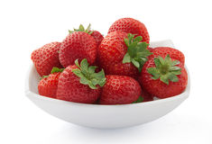 Strawberries. Some fresh strawberries in the white plate Stock Photo