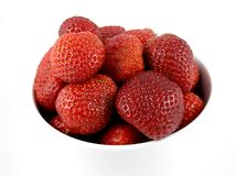 Strawberries. Bowl of strawberries Stock Photos