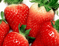 Strawberries. Fresh strawberries isolated on white Royalty Free Stock Image