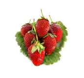 Strawberries. Over white background Stock Photos