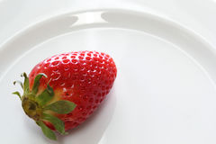 Strawberrie on dish Royalty Free Stock Images