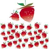 Strawberries. Vector illustration of simple strawberries Stock Photography