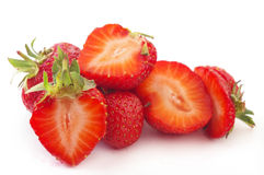 Strawberries. Fresh strawberries isolated on white background Royalty Free Stock Images