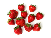 Strawberries. Isolated strawberries Royalty Free Stock Photos