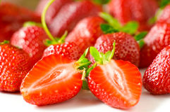 Strawberries. Juicy fresh ripe strawberries on a white background Royalty Free Stock Image