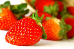 Strawberries. Fresh strawberries on white background Royalty Free Stock Photo