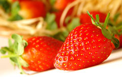 Strawberries. Close up of a group of fresh, succulent strawberries Stock Photo
