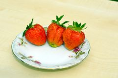 Strawberries. Juicy fresh strawberries for dessert Royalty Free Stock Photo