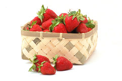 Strawberries. Many strawberries in the basket Royalty Free Stock Photography