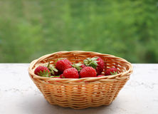 Strawberries. A basket of ripe strawberries Royalty Free Stock Images