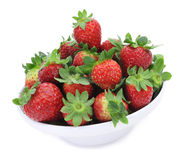 Strawberries. A bowl with some appetizing strawberries on a white background Stock Photo