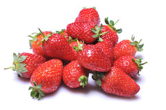 Strawberries. Close up of a group of fresh, succulent strawberries royalty free stock image