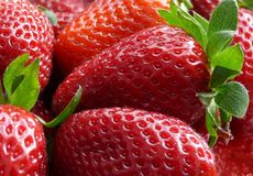Strawberries. Big tasty strawberries, appetizing fruits royalty free stock images