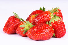 Strawberries. Very fresh strawberries on white background Stock Photos