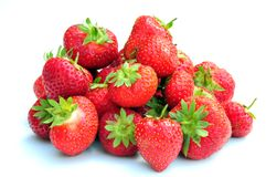Strawberries. A shot of some juicy red strawberries stock photo