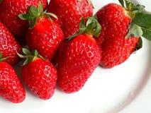 Strawberries. Strwaberries over white Stock Photo