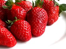 Strawberries. On a plate Stock Image