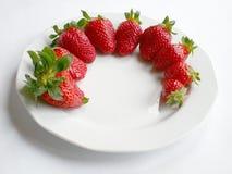 Strawberries. Over white Stock Photos