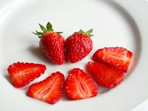 Strawberries. Slices Royalty Free Stock Photography