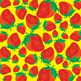 Strawberries. Background with fresh red strawberries stock illustration