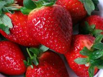 Strawberries. Delicious strawberries royalty free stock images