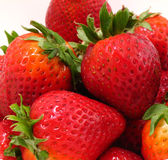 Strawberries. Red ripe strawberries stock photos