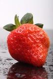 Strawberries. Fresh ripe strawberries isolated on the dark background Stock Photo