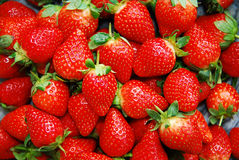 Strawberries. Macro, can be used as a background Royalty Free Stock Photography