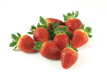 Strawberries. Group of strawberries on studio isolated background royalty free stock photography